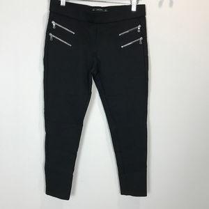 Women's Sz L Zara Basic zipper Pant